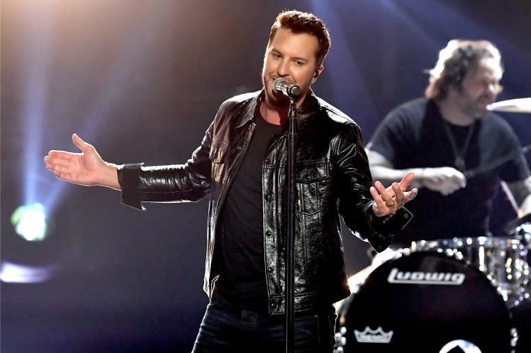 Luke Bryan performs onstage during the 54th Academy Of Country Music Awards