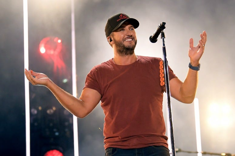 Luke Bryan performs on stage for day 4 of the 2019 CMA Music Festival