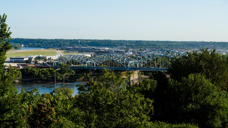 The Buck O'Neil Bridge in Kansas City, MO