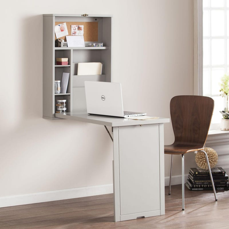 Burnett Fold Out Convertible Wall Mount Desk