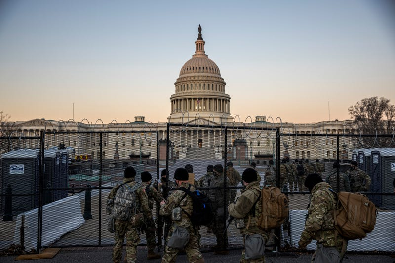 Unprecedented security at the U.S. Capitol after the deadly Jan. 6 riots.