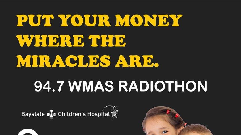 94.7 WMAS Radiothon for Baystate Children's Hospital