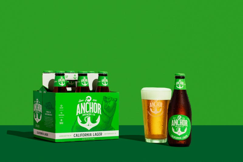 California Lager, one of Anchor's top-selling beers, goes green.