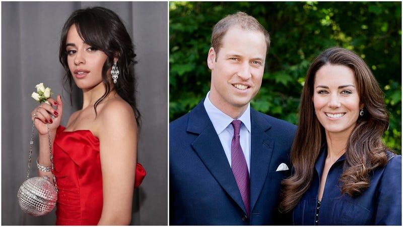 Camila Cabello, Prince William, Kate Middleton