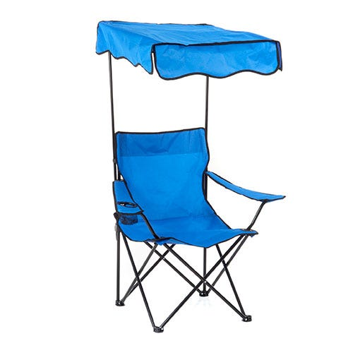 Camp chair with sun shade