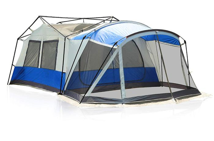 Camping tent with screen room