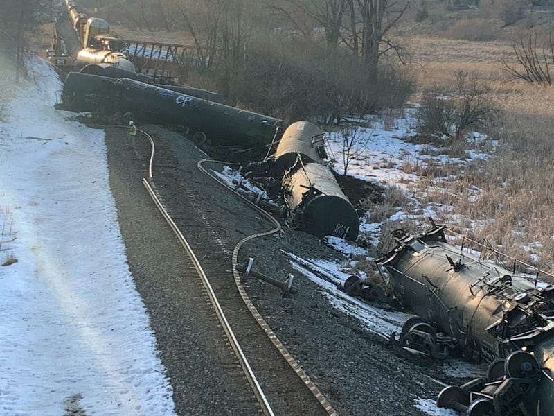 Train cars derailed in Plymouth