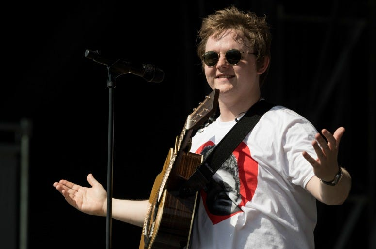 Lewis Capaldi performs on the Other Stage during day four of Glastonbury Festival