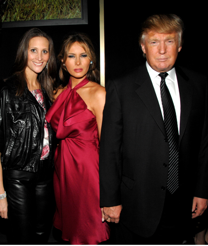 Stephanie Winston Wolkoff, Melania Trump and Donald Trump attend GUCCI and MADONNA host A NIGHT TO BENEFIT RAISING MALAWI AND UNICEF at the United Nations on February 6, 2008 in New York City.