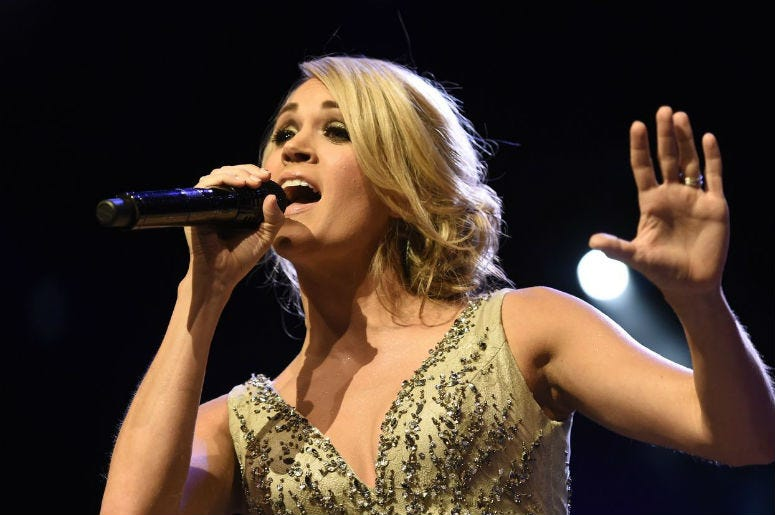 Watch Carrie Underwood Perform Game On For Sunday Night Football