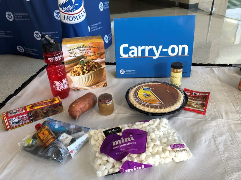 TSA examples of acceptable carry-on foods