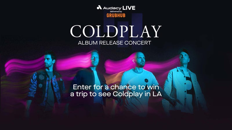 Coldplay Flyaway to Los Angeles Delivered by Grubhub
