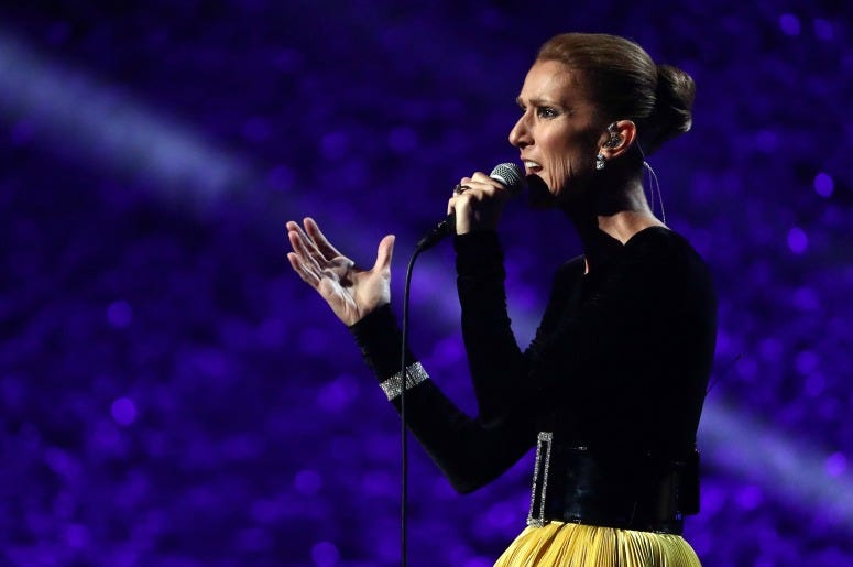 """Celine Dion performs onstage at All-Star Lineup Pays Tribute At """"Aretha! A GRAMMYCelebration For The Queen Of Soul"""