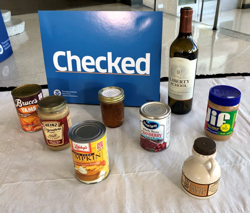TSA examples of foods that must be checked