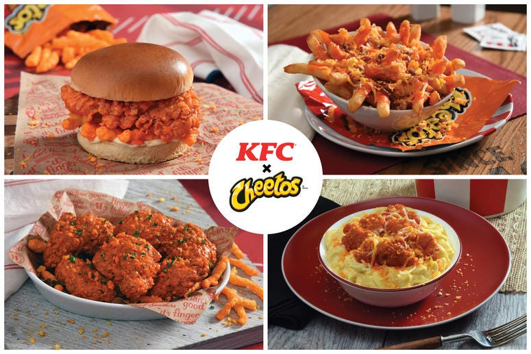 KFC x Cheetos foods