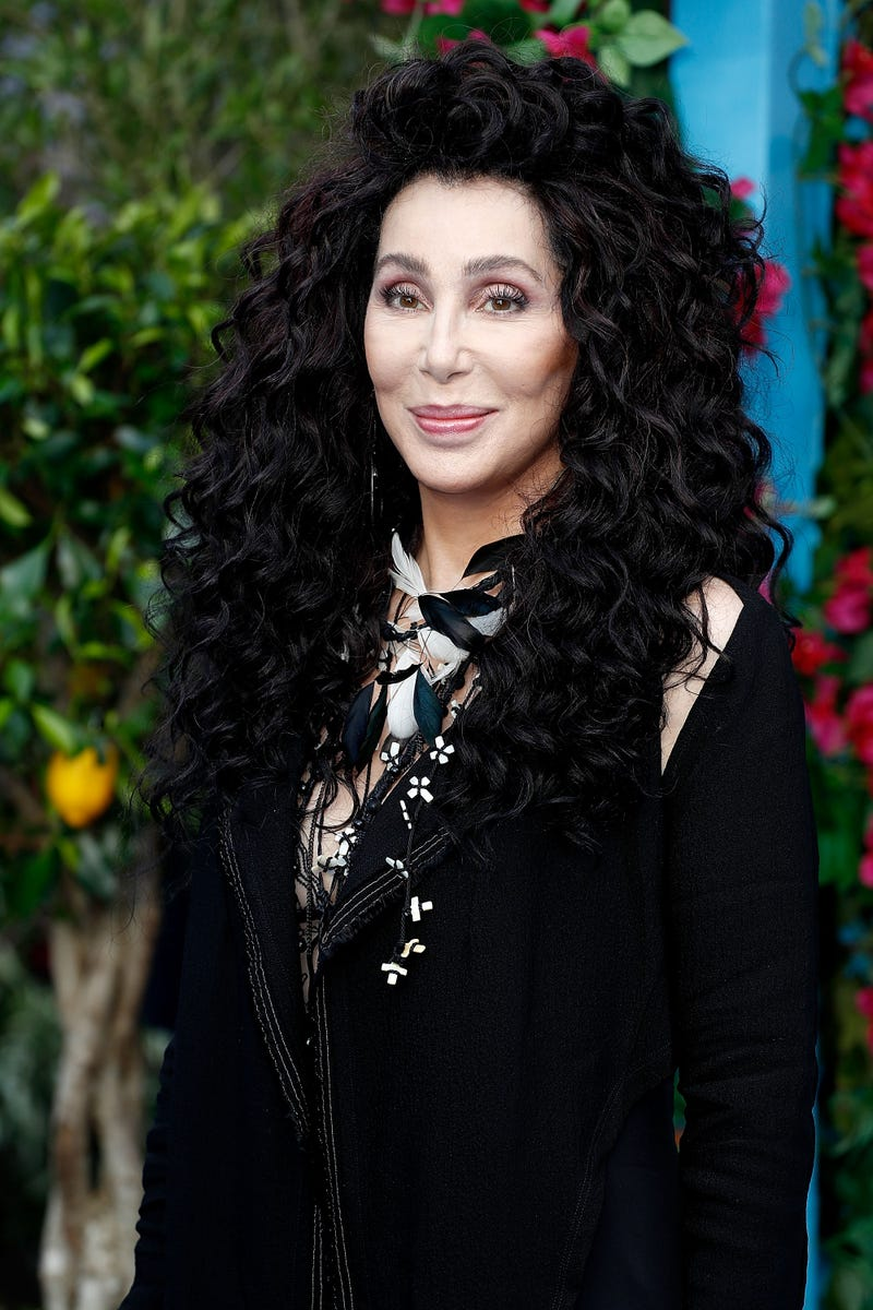 """Cher attends the UK Premiere of """"Mamma Mia! Here We Go Again"""" at Eventim Apollo on July 16, 2018 in London, England."""