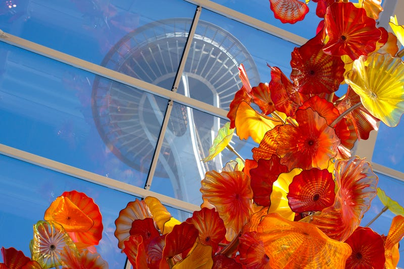 Chihuly Garden and Glass Atrium and Space Needle