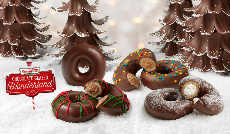 Krispy Kreme Chocolate Glazed Wonderland doughnuts