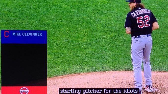 Cleveland Indians Closed Captioning Gaffe