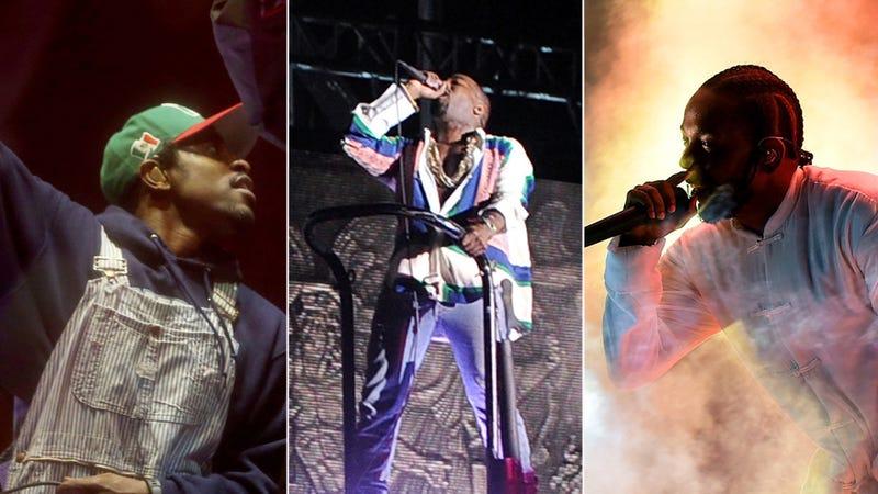 Andre 3000 of Outkast, Kanye West, Kendrick Lamar