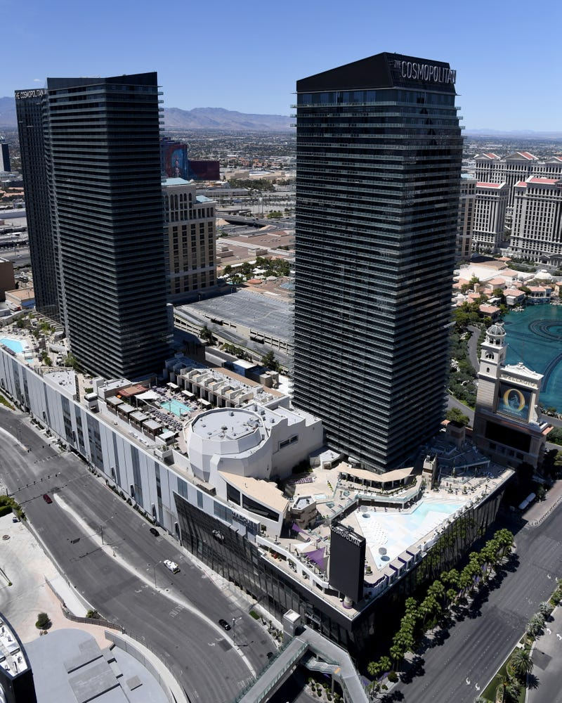 An overhead view of the Cosmopolitan Hotel
