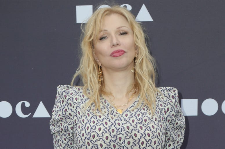 Courtney Love at the MOCA Benefit held at the Geffen Contemporary