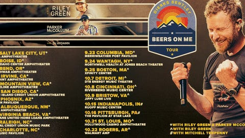 """DIERKS BENTLEY TOASTS SUMMER WITH 2021 """"BEERS ON ME TOUR"""""""