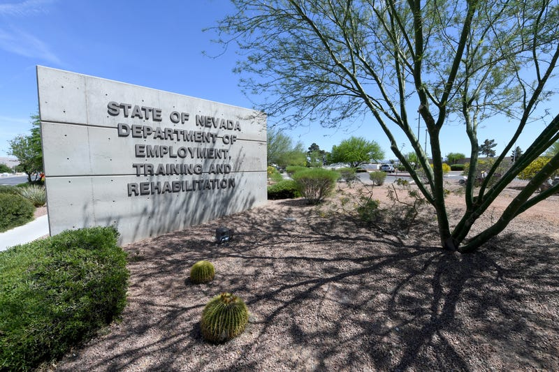 The sign outside the Las Vegas office of the Department of Employment, Training and Rehabilitation