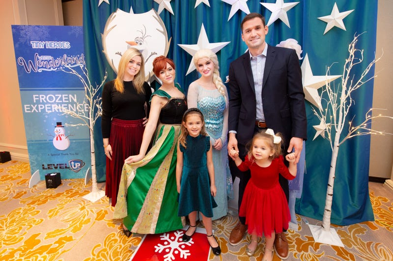 Military families gathered for the Yellow Ribbons United Winter Wonderland event.