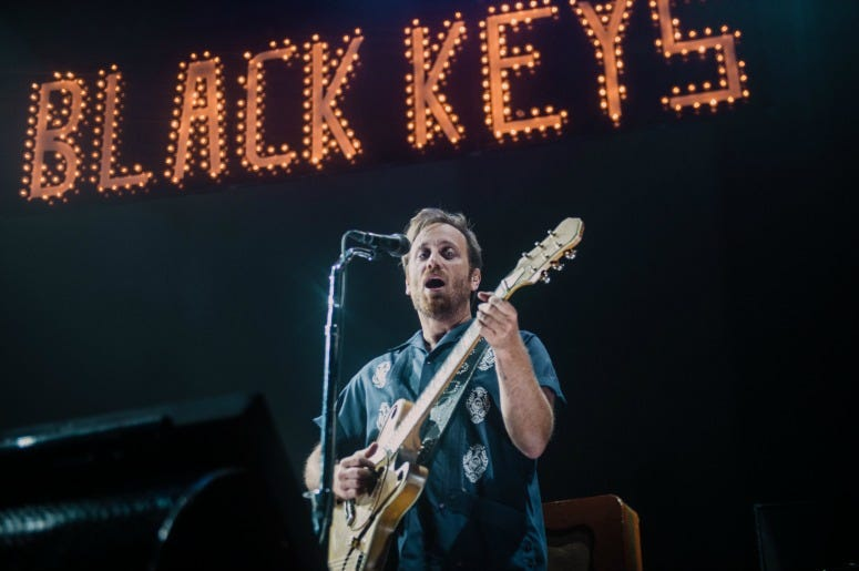 DAn Auerbach of The Black Keys performs on stage