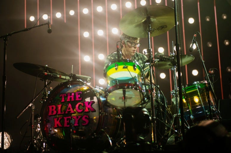 Patrick Carney of The Black Keys performs on stage