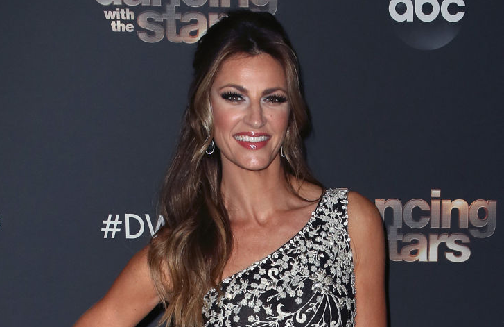 Erin Andrews posing at Dancing with the Stars