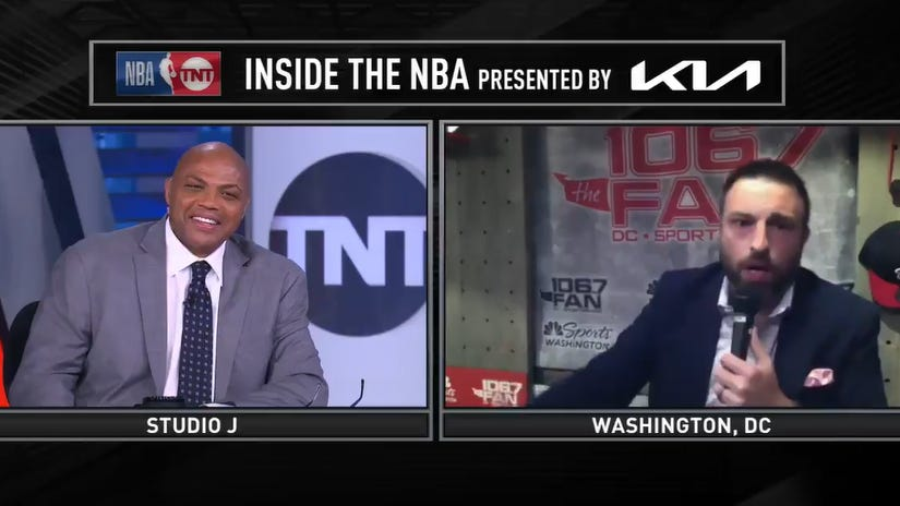Danny Rouhier interviews Charles Barkley as Charles Barkley on TNT's 'Inside the NBA'
