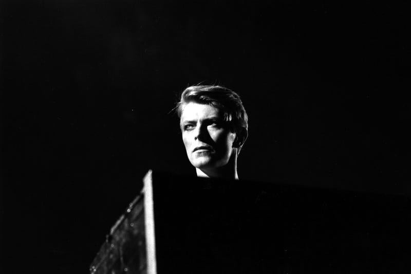 British pop singer David Bowie in concert at Earl's Court, London during his 1978 world tour.