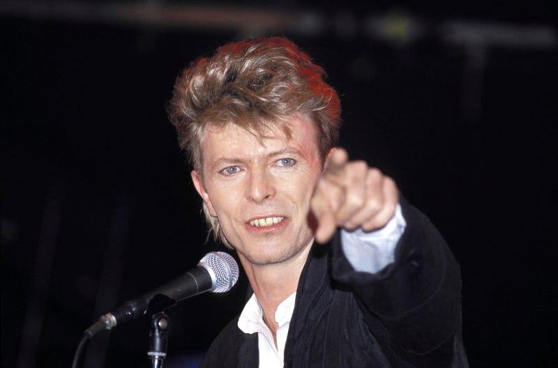 SINGER DAVID BOWIE PERFORMS DURING HIS GLASS SPIDER TOUR IN 1987, AT SYDNEY ENTERTAINMENT CENTRE.