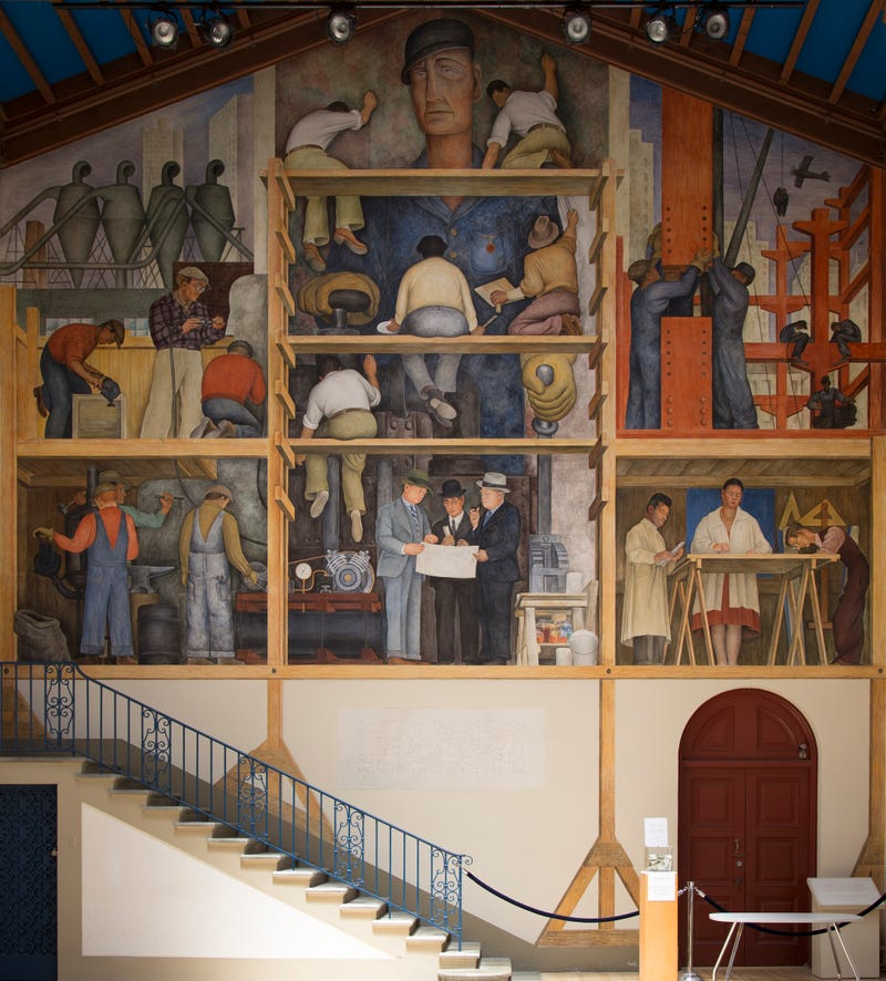 The famous mural created by Diego Rivera for the San Francisco Art Institute in 1931.
