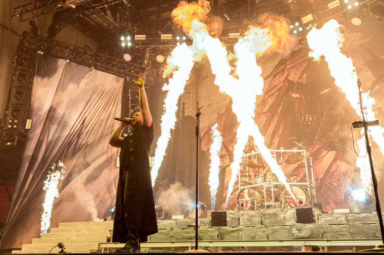 disturbed on stage