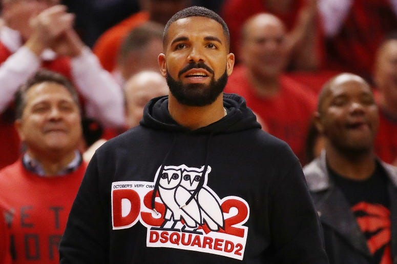 Drake attends game four of the NBA Eastern Conference Finals