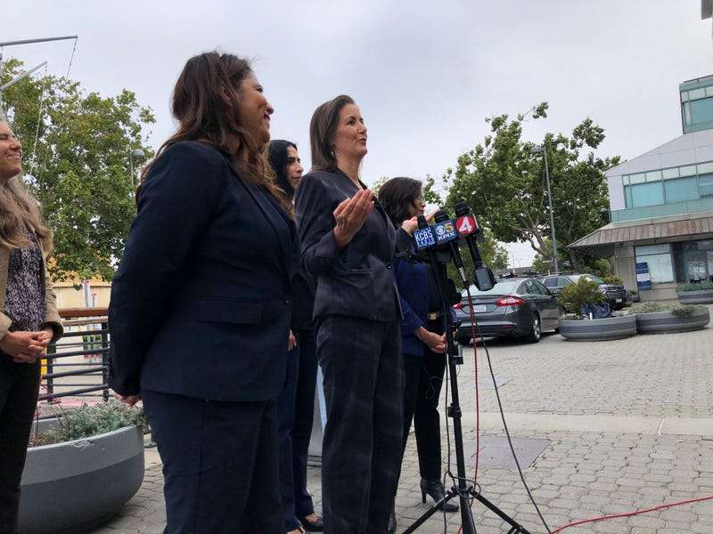 Oakland Mayor Libby Schaaf speaking to reporters on Wednesday.