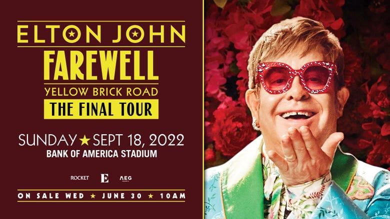 Elton John on The Farewell Yellow Brick Road: The Final Tour