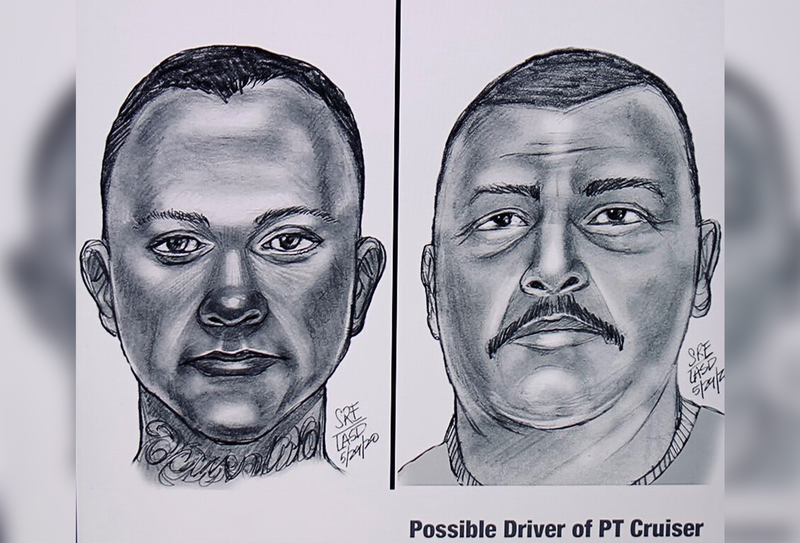 Sketches of suspects in East LA
