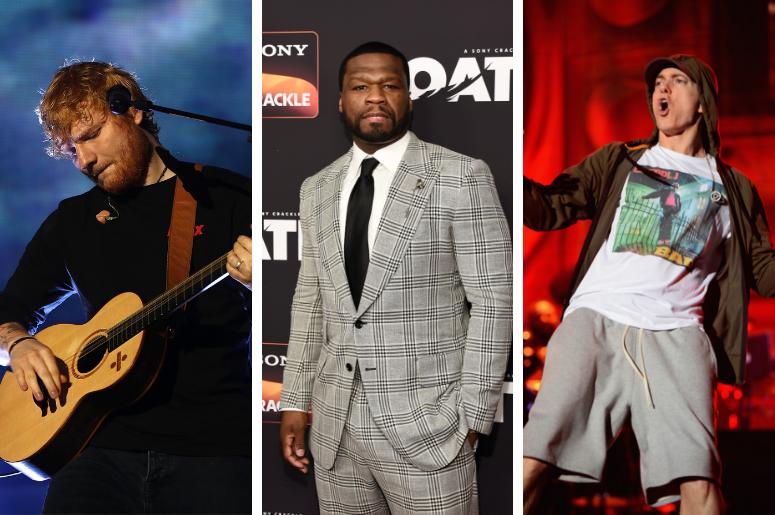 Eminem, 50 Cent, Cardi B Join Ed Sheeran's 'No  6 Collaborations