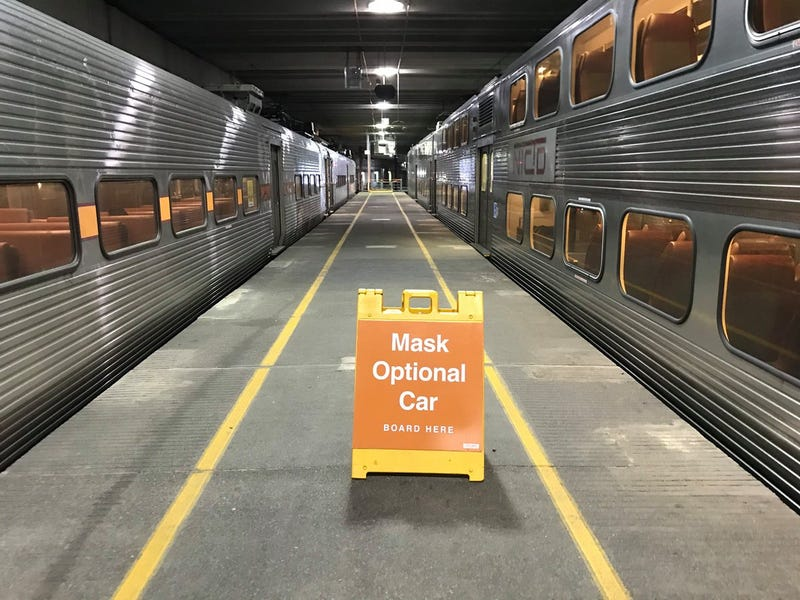 "South Shore train line offering passengers a ""mask-optional car"""