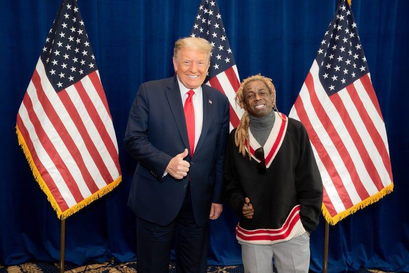 President Trump and Lil Wayne on Oct. 29, 2020