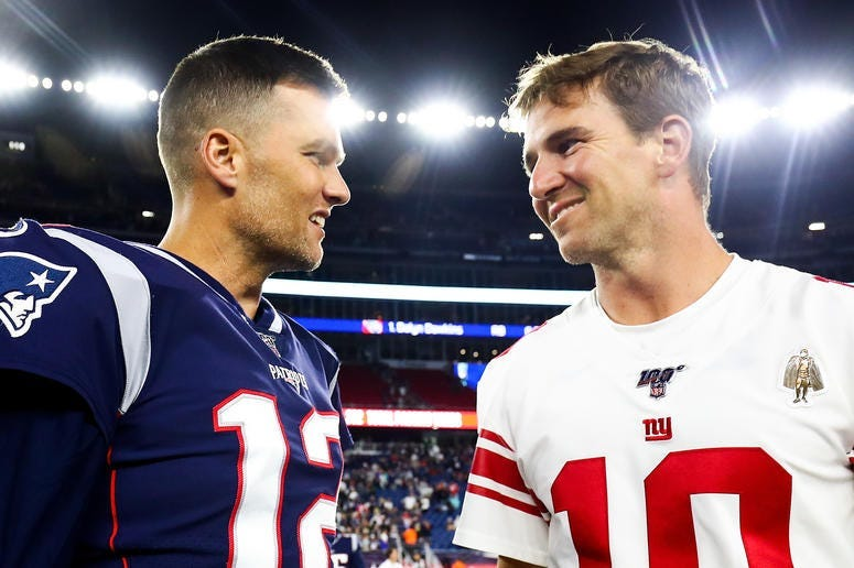 Eli Manning and Tom Brady