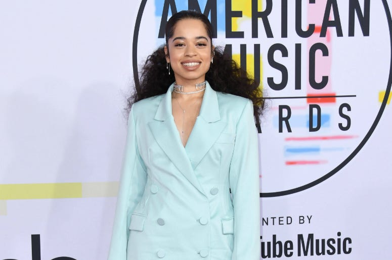 Ella Mai. 2018 American Music Awards - Arrivals held at the Microsoft Theater.