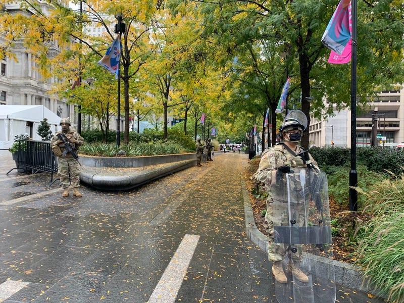 Pennsylvania National Guard arrives in Philadelphia