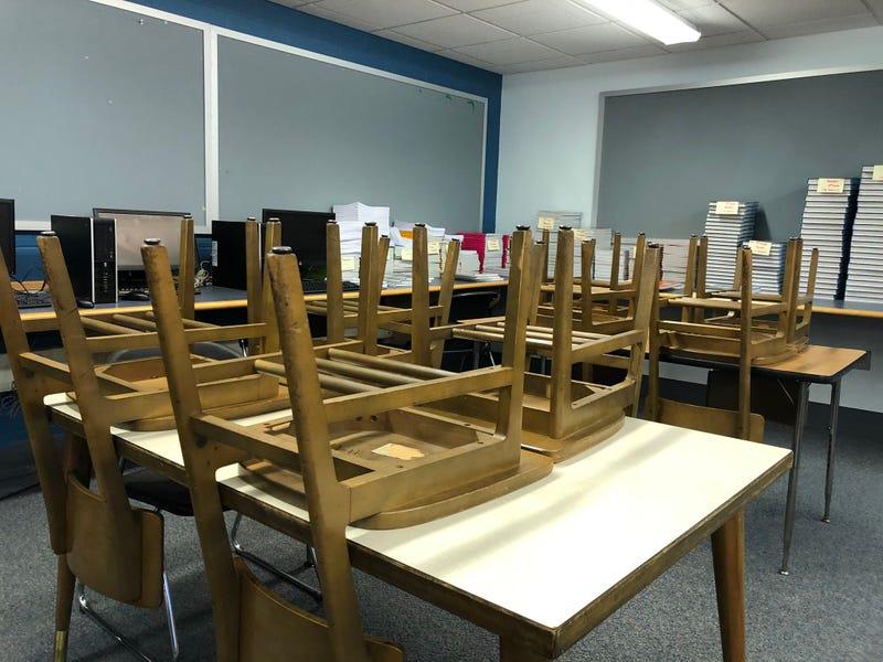 Empty library at Buffalo Public School 92. September 8, 2020