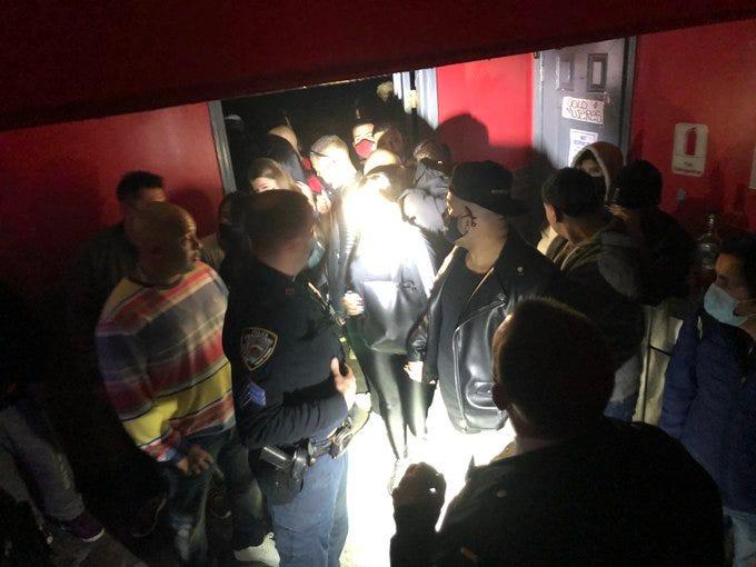 Queens party shut down