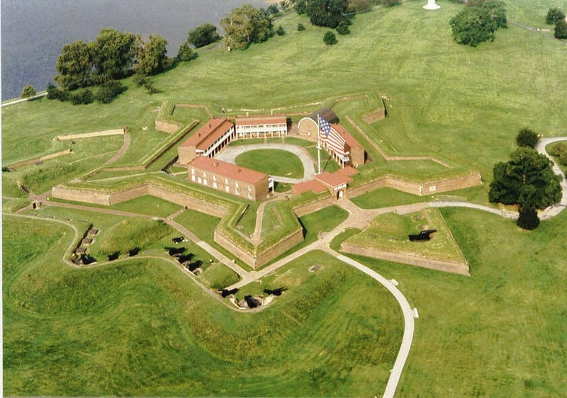 An Aerial View Of The Fort McHenry